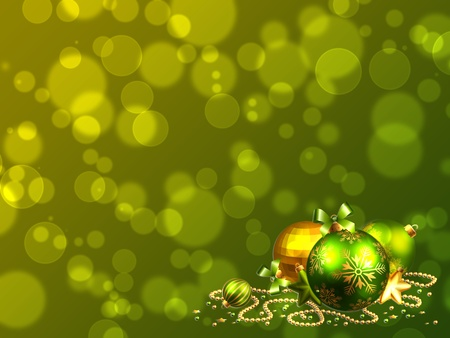 christmas ball on abstract light background photo