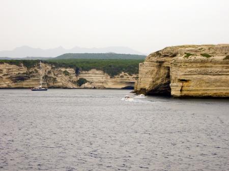 Cliffs near the city Bonifacio, Corsica  Stock Photo