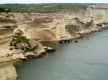 Cliffs near the city Bonifacio, Corsica