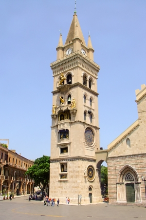 bell tower cathedrals town of Messina
