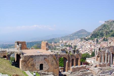 Taormina theater in Sicily, Italy