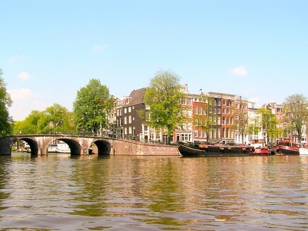 City scenic from Amsterdam in the Netherlands  Stock Photo