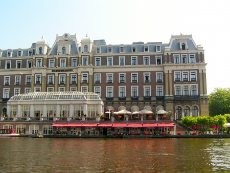 houses along Amsterdam canal, Holland