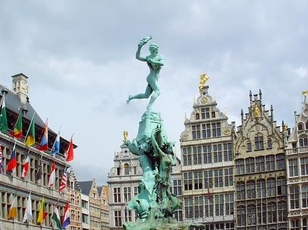 The Grote Markt Antwerp Belgium  Stock Photo