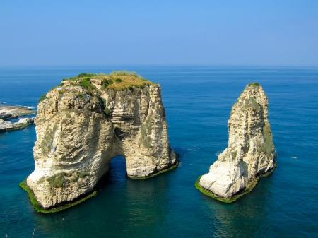 Pigeon rocks in Beirut coast, Pigeon rocks, Beirut