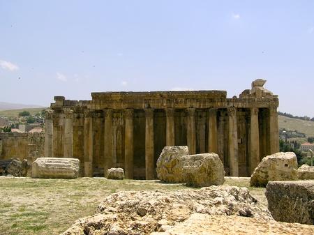 Facade of Baahus temple in Baalbek, Lebanon
