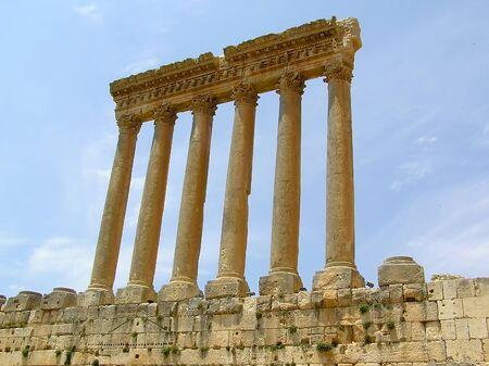 Roman columns at Heliopolis, Baalbek, Lebanon