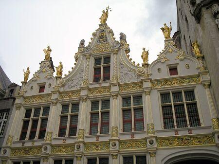Historical building in Brugge, Belgium  Editorial
