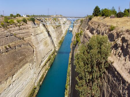 Landscape of the Corinth Canal in Greece