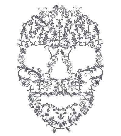 agony: Floral Skull, Great for  or El Dia de los Muertos