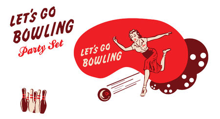 50s Style Bowling party set