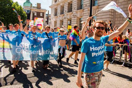 activism: London LGBT+ Pride - Saturday July 8, 2017 - London, UK - Photo: ALLAN GREGORIO123rf.com