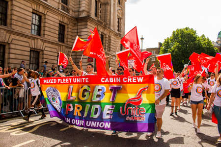 London LGBT+ Pride - Saturday July 8, 2017 - London, UK - Photo: ALLAN GREGORIO123rf.com