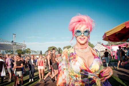 Milkshake Festival Amsterdam at Westerpark - July 2018 Banque d'images - 107733632