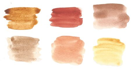 Watercolor color palette of 6 shades. Raster illustration 写真素材