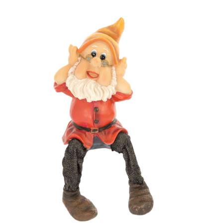 garden gnome: Garden gnome on a white background.