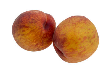 dietary: Large juicy peaches. Useful dietary and vegetarian food. Stock Photo