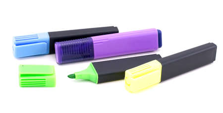 highlighter pen: Marker highlighter pen isolated on white background