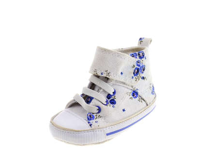 Color summer childrens boot is isolated on the white