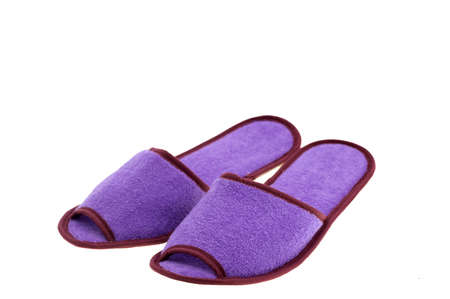 footware: Image of Slippers isolated on white background Stock Photo