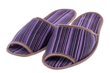 Image of Slippers isolated on white background Stock Photo