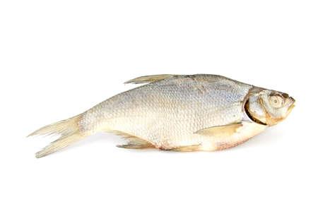 Dry fish isolated on white background. horizontal photo. Stock Photo