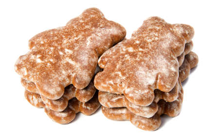 tradition: traditional gingerbread isolated on white background