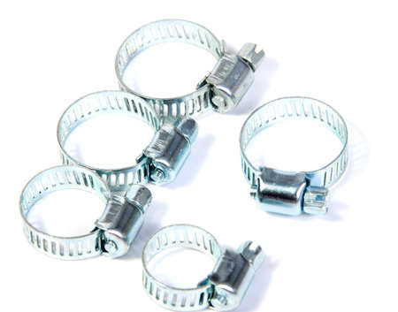 worm gear: entire frame filled with gear clamps or hose clamps. Good plumbing or hardware theme