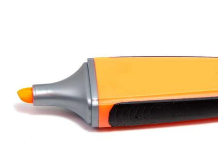 Marker highlighter pen isolated on white background