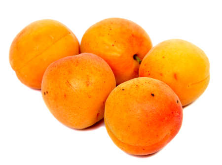 Large juicy peaches. Useful dietary and vegetarian food. Stock Photo