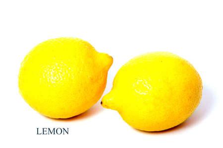 citrons: Lemon isolated. One whole lemon isolated on white background Stock Photo