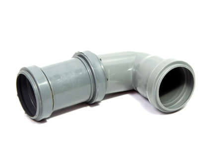 plastic plumbing pipe isolated on white background