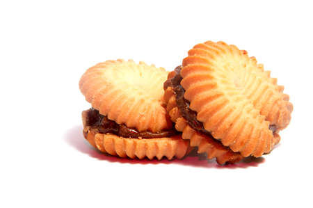 Shortbread biscuits  isolated on white background cutout Stock Photo