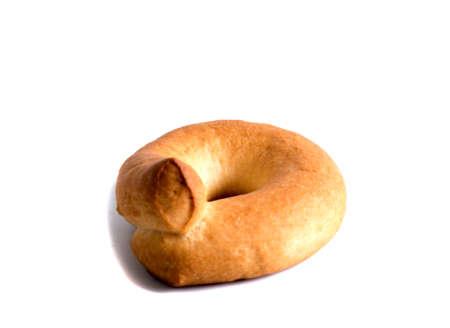 Shortbread biscuits on a white background Foto de archivo