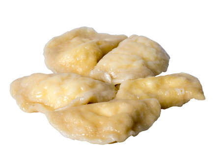 Picture of raw dumplings or gyoza isolated obackground