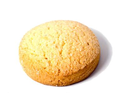 Shortbread biscuits on a white background Standard-Bild