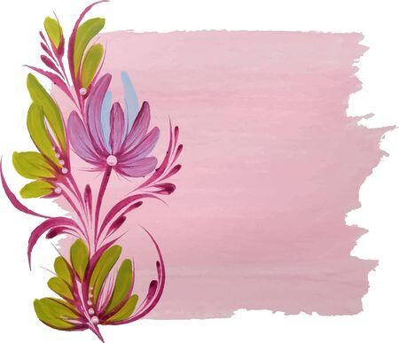 drawn flower vector illustration Illusztráció