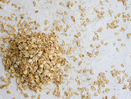 wood texture: Rolled oats background