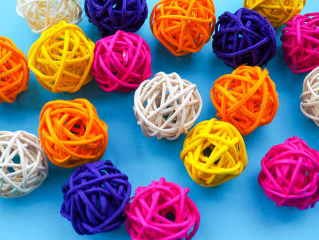 absorbent: a lot of colored balls for a florist as a backdrop, the substrate