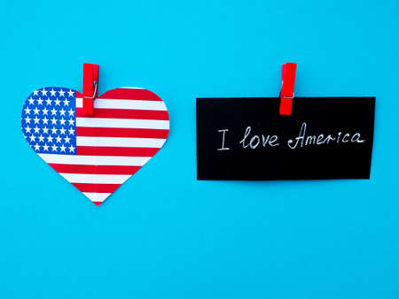 flagged: I Love My Country America flag independence day Stock Photo
