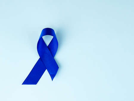 Blue ribbon awareness.Colon Cancer, Colorectal Cancer, Child Abuse awareness, world diabetes day.