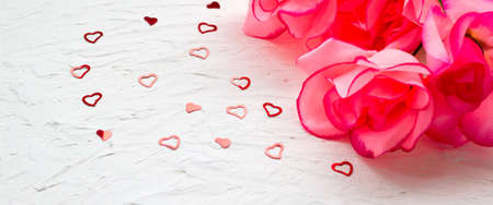 Beautiful romantic composition. for wedding, birthday, St. Valentines Day background Banque d'images