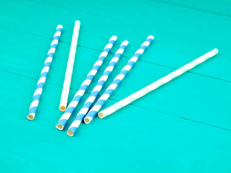 Mixed color of straw stick, Drinking straws. Cocktail Tubes