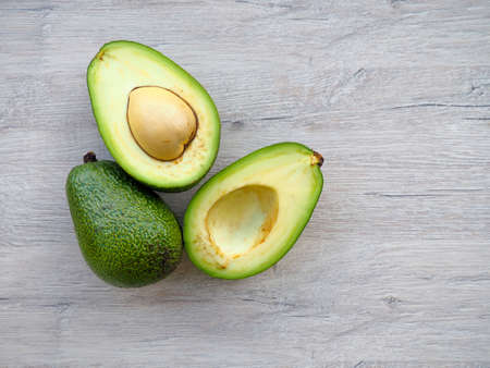 fresh avocado in the drawer, space for text, dieting, clean eating, vegetarian, vegan, fitness, healthy lifestyle concept Stockfoto