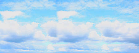 Blue sky in the soft white clouds. Stockfoto