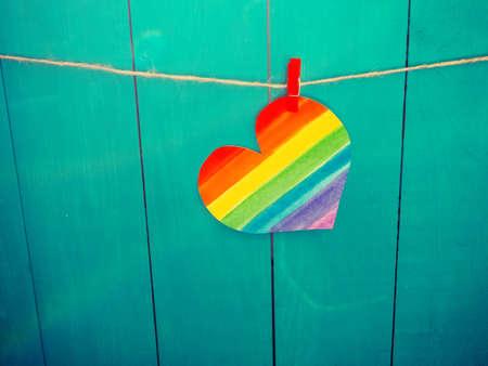 Rainbow Heart, Lgbt movement concept. LGBT colors, love wallpaper, valentine