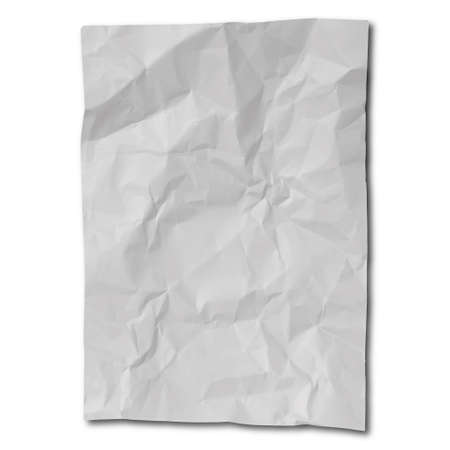 a sheet of crumpled paper separately as a mockup.