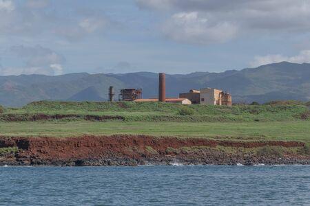 From the Ocean, looking at Kaumakani Sugar Plantation, on Kauai