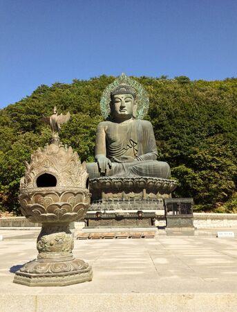 Large Buddha statue in Seoraksan National Park, South Korea