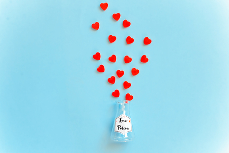 Love potion bottle, concept for dating, romance and valentines day